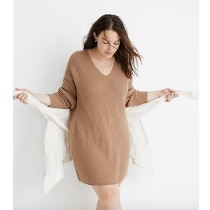 Madewell Relaxed V-Neck Sweater Dress